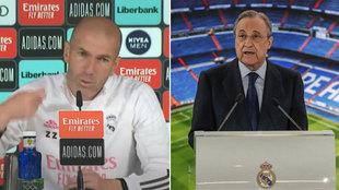 Preguntan por cómo se encuentra Florentino tras la Superliga: y Zidane decide responder