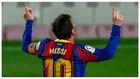 Messi celebra uno de los goles frente al Getafe.