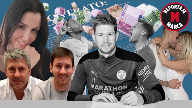 Montaje MARCA con De Bruyne, Sterling, los Messi...
