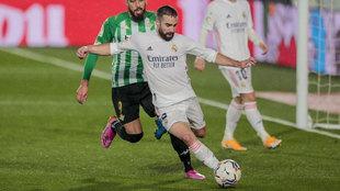 Dani Carvajal, durante el partido ante el Betis