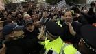 Imagen de las protestas por la Superliga de aficionados del Chelsea