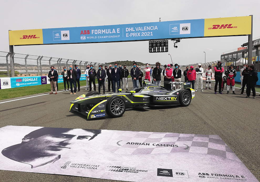 Homenaje a Adrián Campos Valencia E-Prix Fórmula E