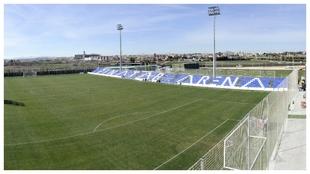 Vista aérea del campo principal de Pinatar Arena.