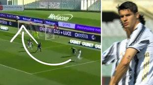 Morata se inventa esta obra de arte a los 30 segundos de salir del banquillo