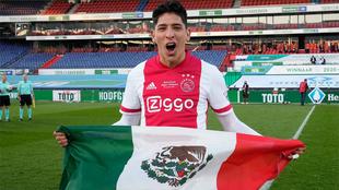 Edson Álvarez podría celebrar el doblete con el Ajax.