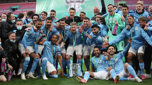 Manchester City, campeón de la Copa de la Liga ante el Tottenham.