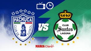 Pachuca vs Santos: Horario y dónde ver en vivo por TV.