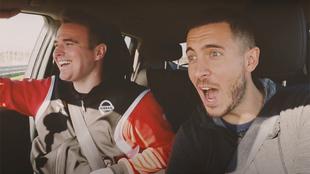 Eden Hazard ya conoce bien lo que puede hacer el Nissan Leaf......