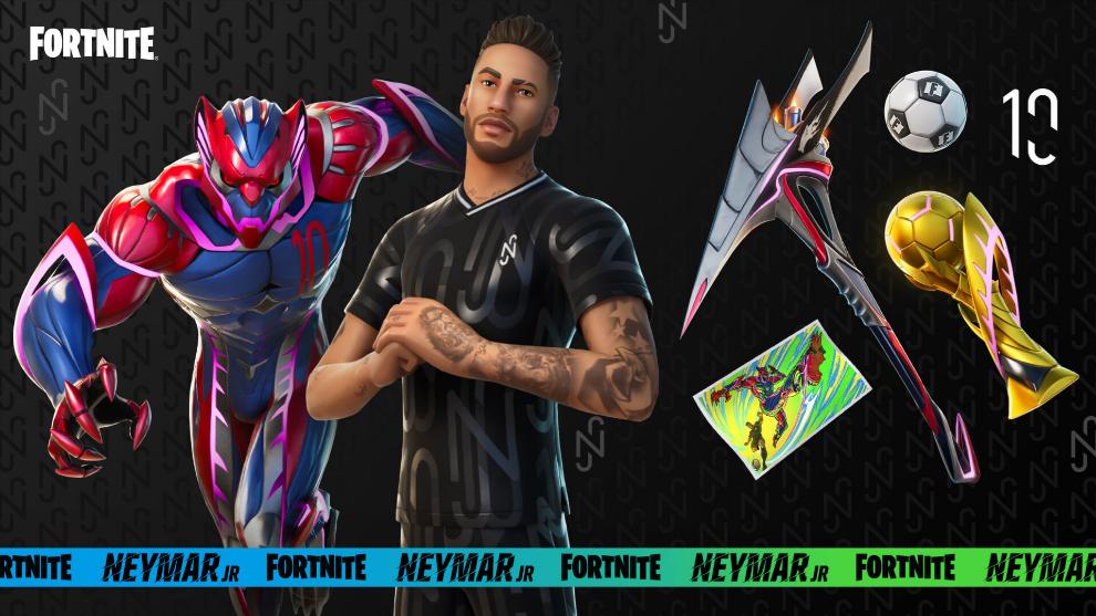 Neymar Skin Fortnite - Misiones recompensas objetos
