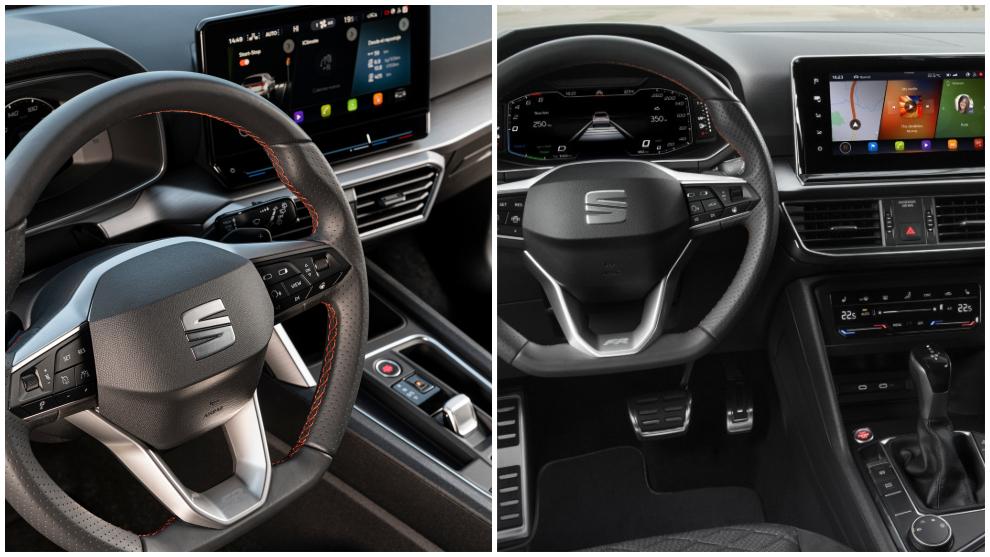 El León TGI FR incorpora navegación con pantalla de 10'' y en el Tarraco e-Hybrid es de 9,2''.