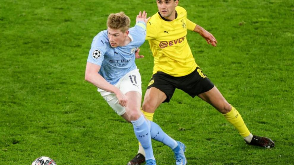 De Bruyne fue uno de los goleadores del choque ante el Borussia de Dortmund