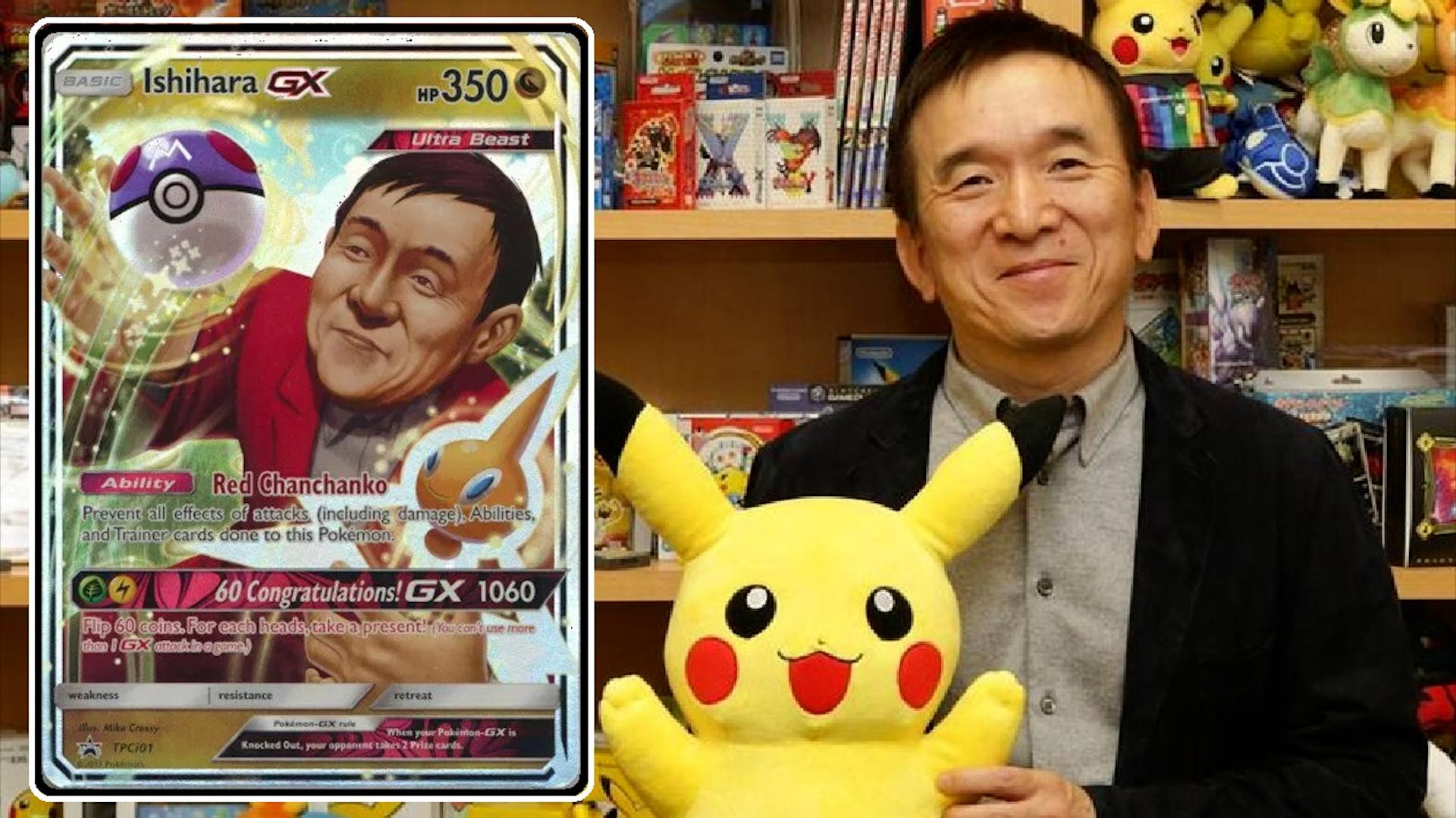 Tsunekazu Ishihara posa junto a Pikachu