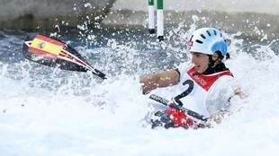 Maialen Chourraut, en acción en los Juegos Olímpicos de Londres 2012