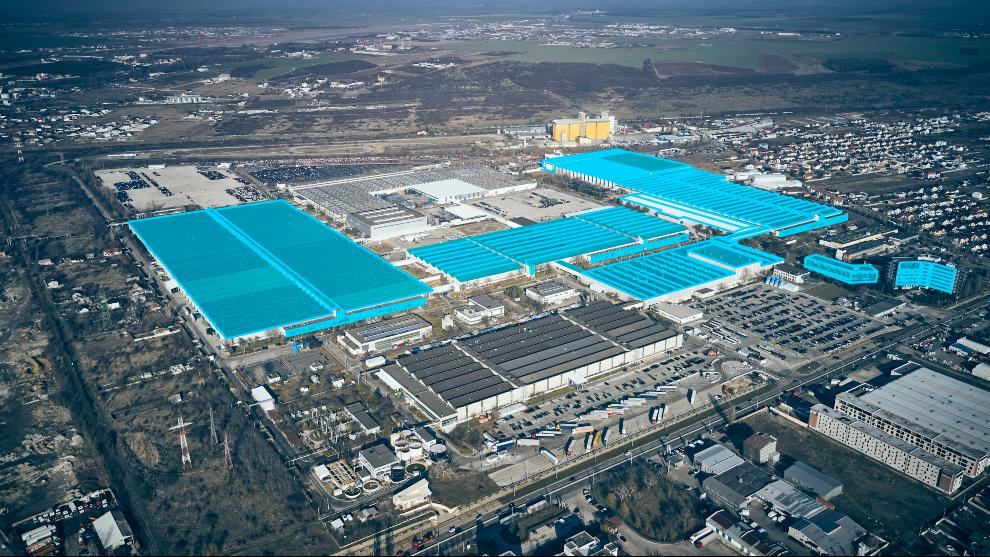 Vista aérea de la planta de Ford en Craiova (Rumanía).