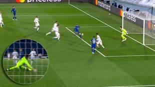 Otro milagro de Courtois: sacó este gol cantado de Werner