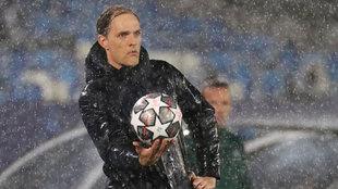 Tuchel, durante el partido ante el Madrid