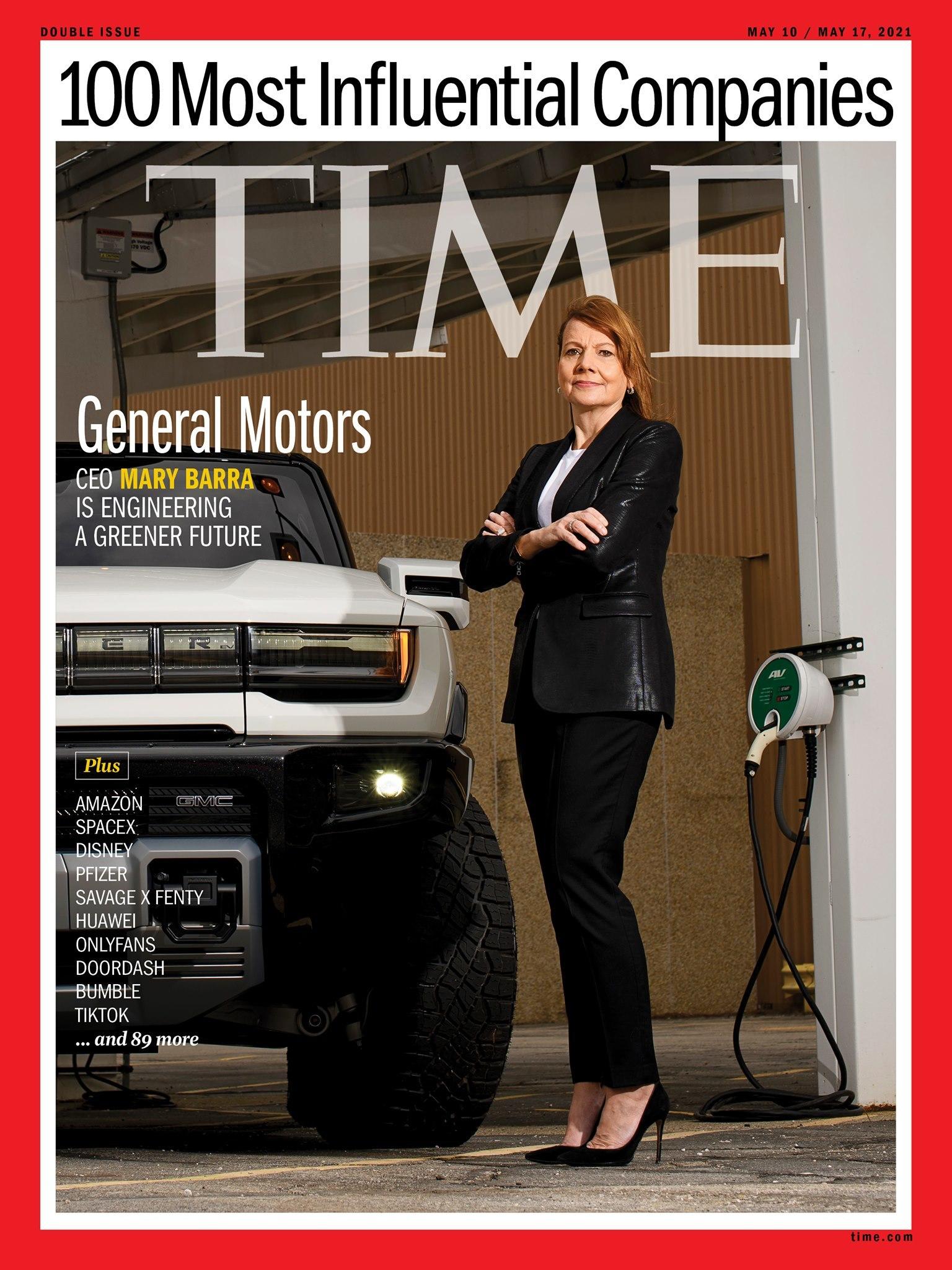 Mary Barra portada Time 100 empresas más influyentes