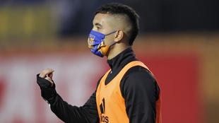 Leo Fernández en un juego con Tigres.