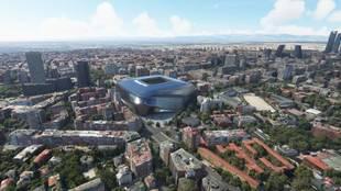 La simulación aérea del Santiago Bernabéu que enamora: así lucirá una vez terminado