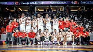 La selección española celera la medalla de bronce en el Eurobasket...