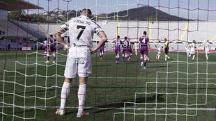 El jugador portugués se lamenta durante un partido de la Serie A.