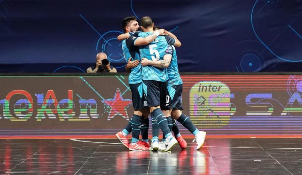 Los jugadores del Movistar Inter celebran uno de los goles