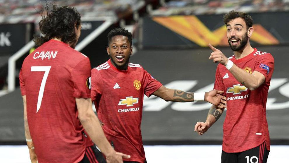 Cavani y Bruno Fernandes destrozan a la Roma: ¡¡6-2!!