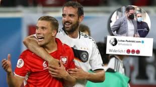 Fue compañero de Metzelder y ahora no se corta: el aviso y lapidario mensaje de Podolski