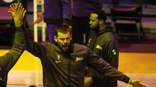 Marc Gasol presentado con los Lakers