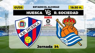 Huesca Real Sociedad Liga - Donde ver TV hoy Horario Canal Partidos...