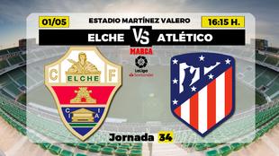 Elche Atletico de Madrid Liga - Horario Canal TV Donde ver Partidos...