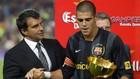Valdés, con Laporta, en una imagen de archivo.