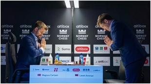 Magnus Carlsen contra Levon Aronian.