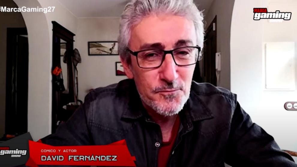 David Fernández, durante la entrevista