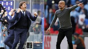 Antonio Conte y Pep Guardiola.