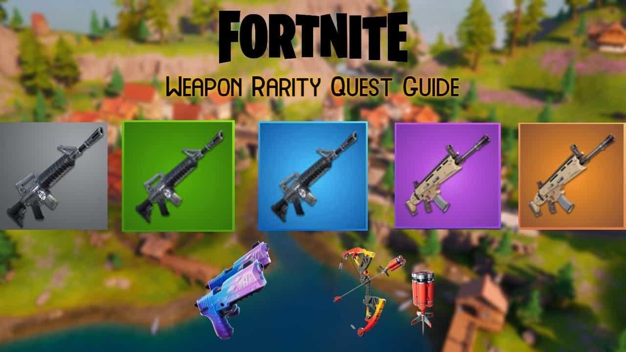 Diferentes armas en Fortnite