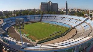 Imagen aérea del estadio Centenario.