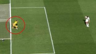 ¿Por qué no se repitió el penalti si Oblak estaba adelantado?