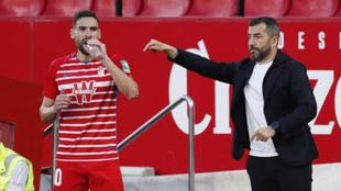 Diego Martínez, en un partido del Granada.