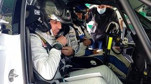 Pepe y su nuevo copiloto, Diego Vallejo, a lomos del Skoda.
