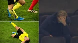 La espeluznante lesión del español Morey que asustó a Haaland: su reacción...