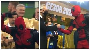 Dzyuba se pasa el juego, ¡sube a recoger la medalla vestido de Deadpool!