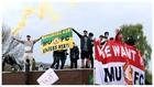 Las protestas de los aficionados del Manchester United contra los...