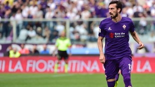 Davide Astori, durante un partido con la Fiorentina.