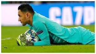 Keylor Navas, en un partido de la Champions 2019-20 contra el Real...
