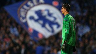 Thibaut Courtois, durante la semifinal de 2014 entre el Chelsea y el...