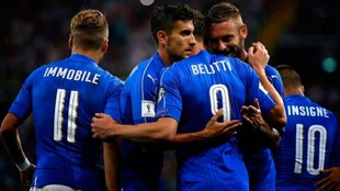 Futbolistas de la selección italiana en una imagen de archivo