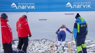 El portillón de salida en Narvik.