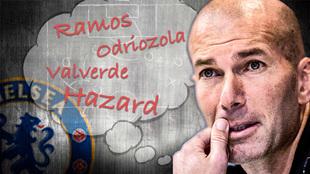 Las dudas de Zidane para el Chelsea-Real Madrid