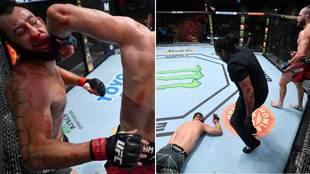 El salvaje KO de un codazo giratorio que asusta en la UFC: ¿el mejor del año?